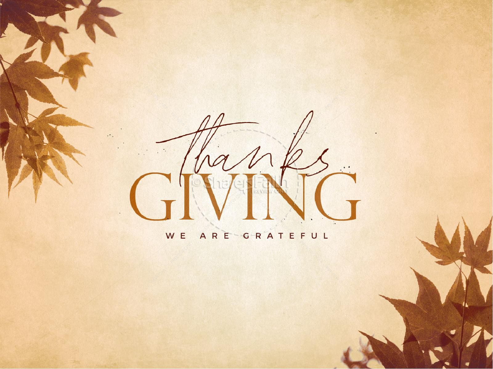 Grateful Thanksgiving Church PowerPoint