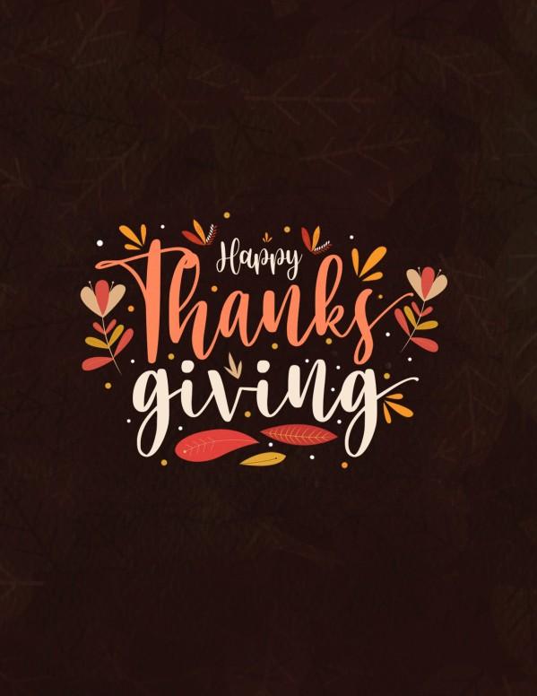 Happy Thanksgiving Brown Church Flyer
