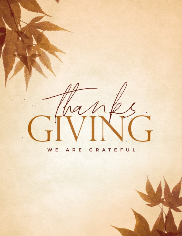 Grateful Thanksgiving Church Flyer
