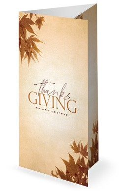 Grateful Thanksgiving Church Trifold Bulletin