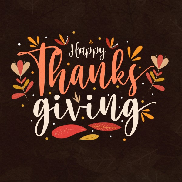 Happy Thanksgiving Brown Social Media Graphic