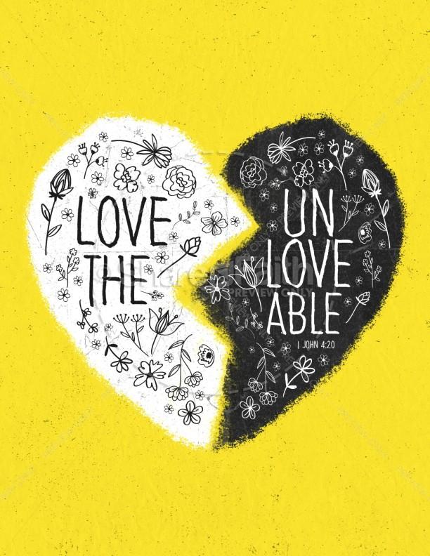 Unloveable Church Flyer
