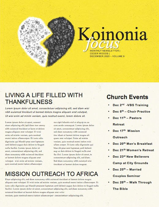 Unloveable Church Newsletter