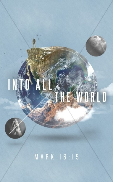 Into All The World Church Bifold Bulletin