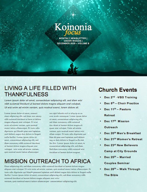 Fear Not Church Newsletter