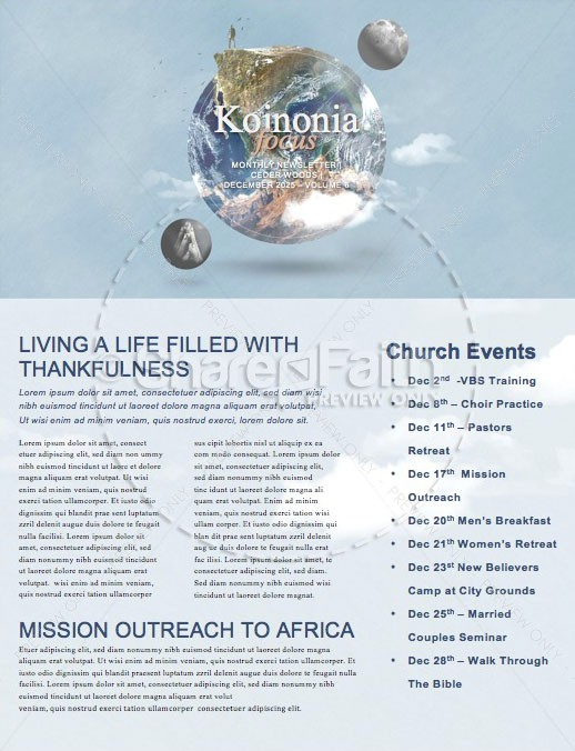 Into All The World Church Newsletter