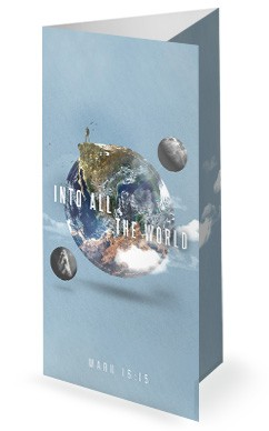 Into All The World Church Trifold Bulletin