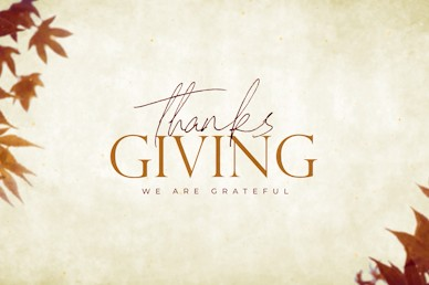 Grateful Thanksgiving Title Church Video