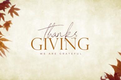 Grateful Thanksgiving Title Church Video