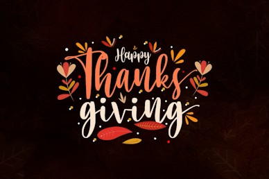 Happy Thanksgiving Brown Title Church Video