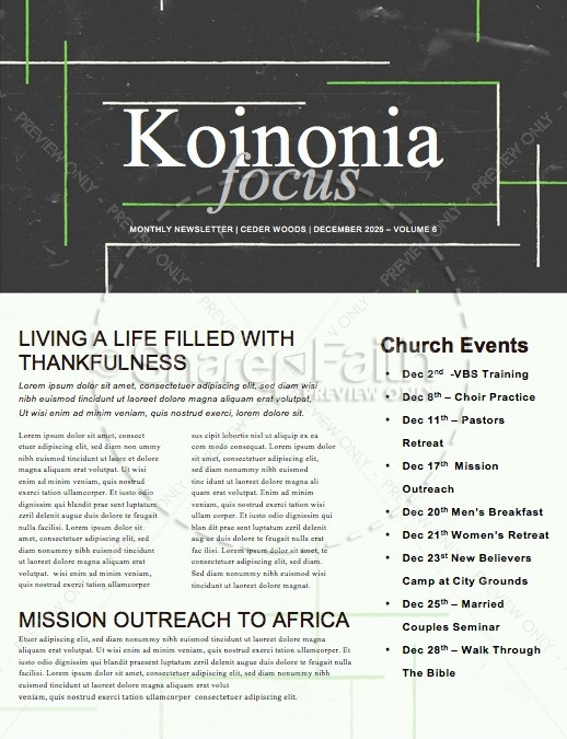 Faith Full Church Newsletter