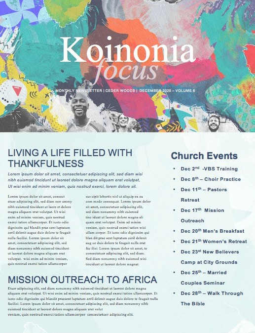 Finding Joy Church Newsletter