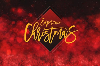 Experience Christmas Red Title Church Video