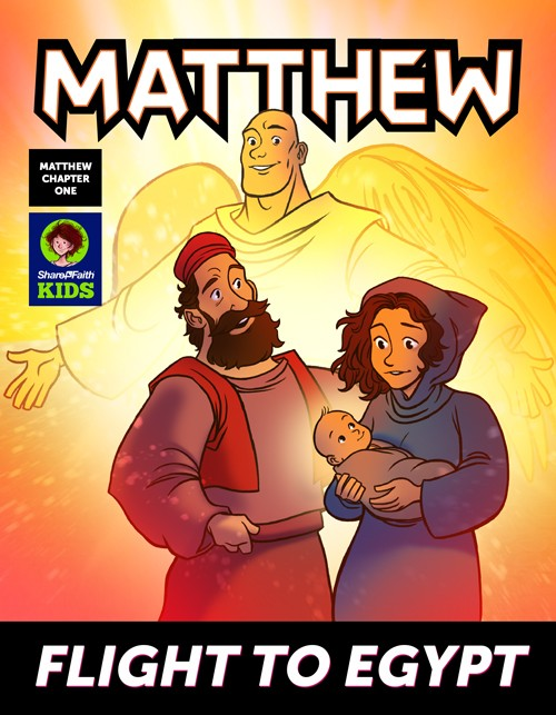 Matthew 1 Flight to Egypt Digital Comic