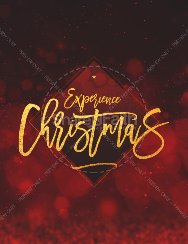 Experience Christmas Church Flyer