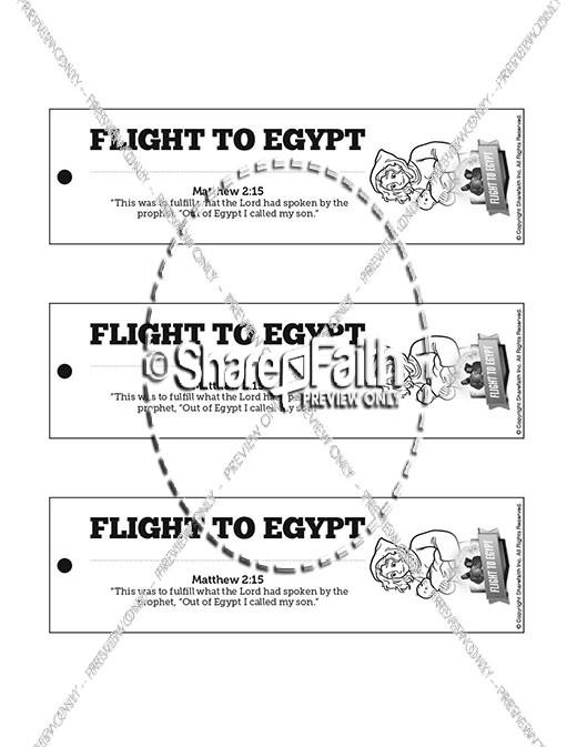 Matthew 2 Flight To Egypt Bible Bookmarks