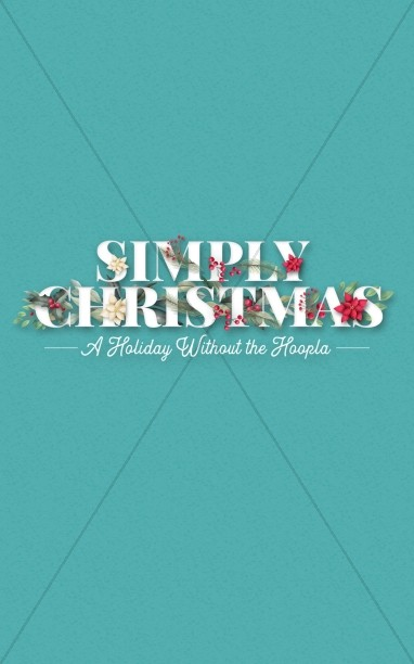 Simply Christmas Church Bifold Bulletin