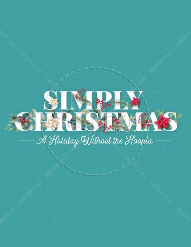 Simply Christmas Church Flyer