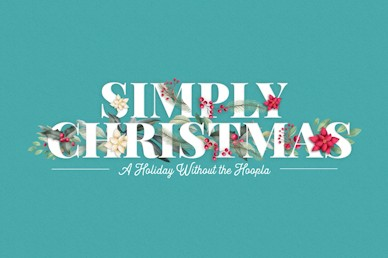 Simply Christmas Title Church Video