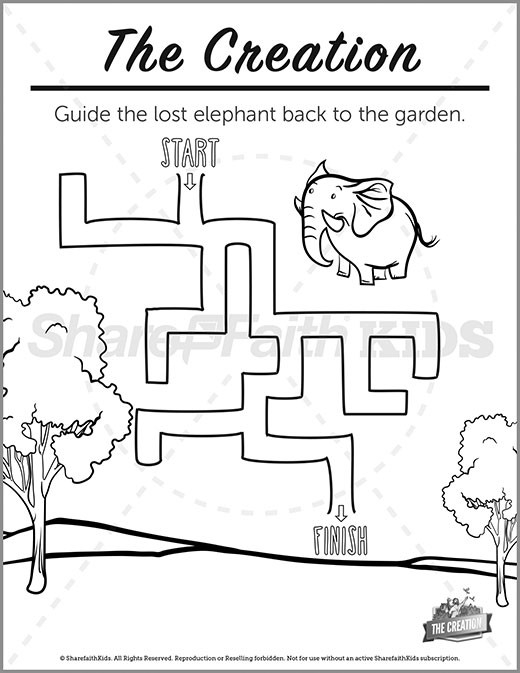 Genesis 1 The Creation Story Preschool Mazes