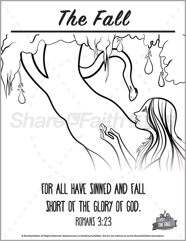Genesis 3 The Fall Preschool Coloring Pages