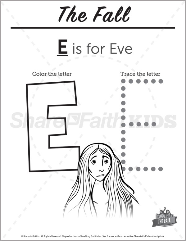 Genesis 3 The Fall Preschool Letter Coloring