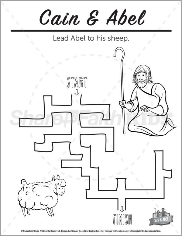 Genesis 4 Cain & Abel Preschool Mazes