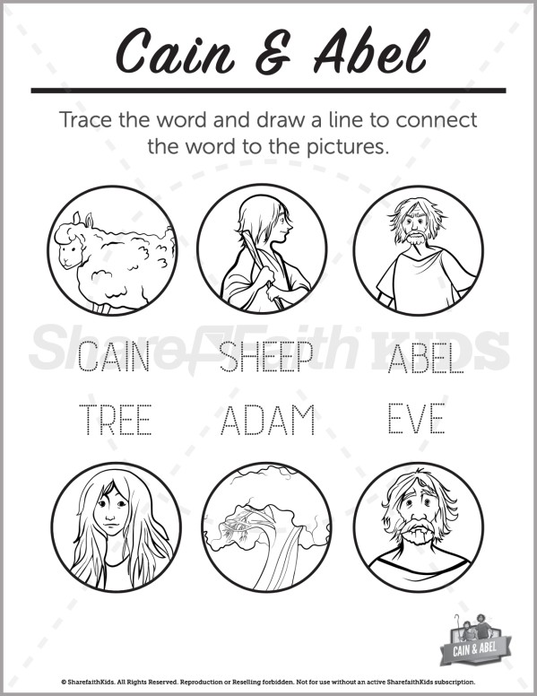 Genesis 4 Cain & Abel  Preschool Word Picture Match