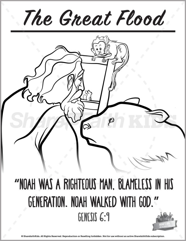 Genesis 10 Noahs Ark Preschool Coloring Pages