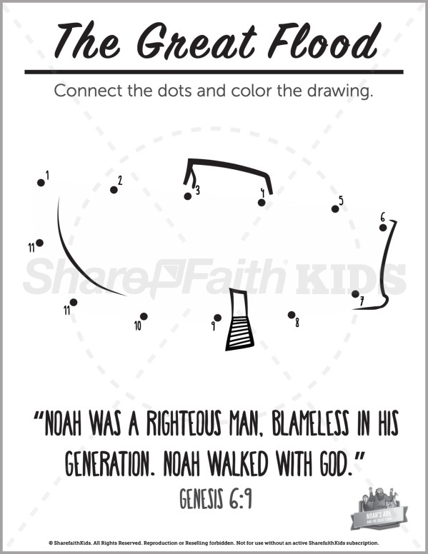 Genesis 10 Noahs Ark Preschool Dot to Dot