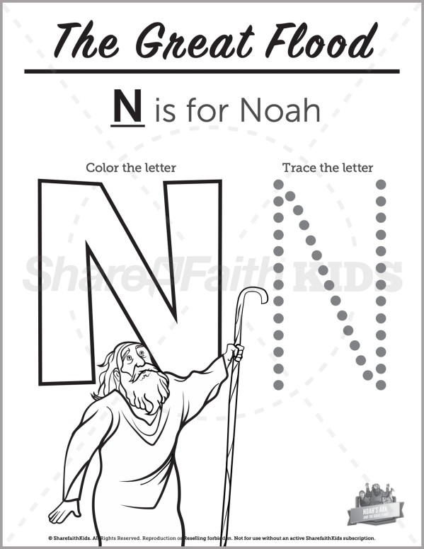 Genesis 10 Noahs Ark Preschool Letter Coloring