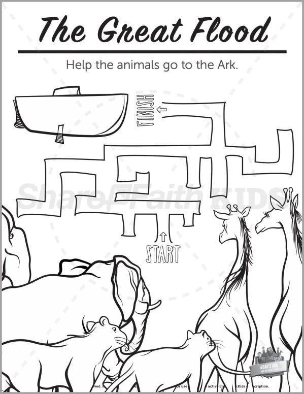 Genesis 10 Noahs Ark Preschool Mazes