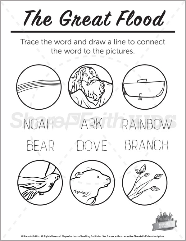 Genesis 10 Noahs Ark Preschool Word Picture Match
