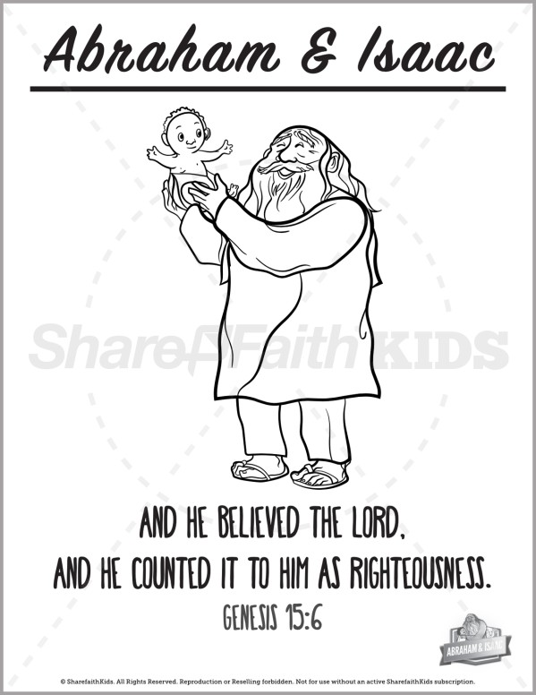 Genesis 22 Abraham and Isaac Preschool Coloring Pages