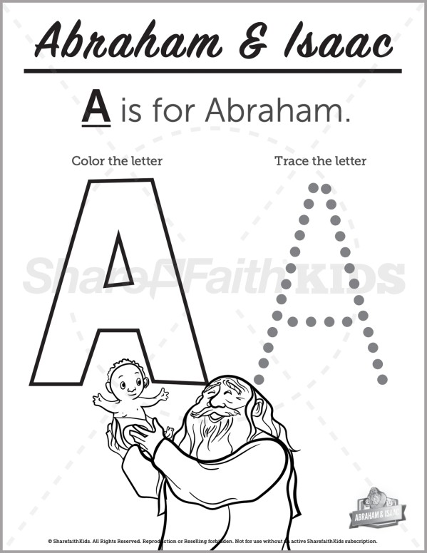Genesis 22 Abraham and Isaac Preschool Letter Coloring