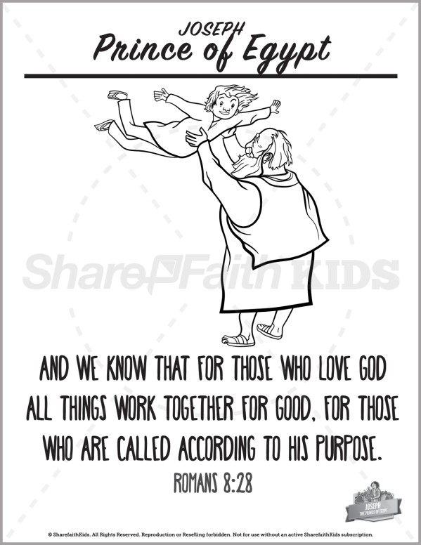 Genesis 50 The Story of Joseph Preschool Coloring Pages