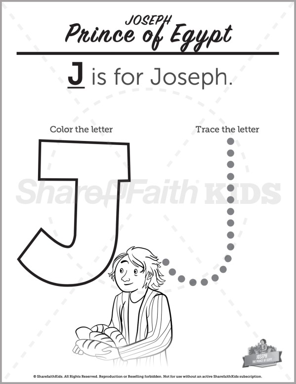 Genesis 50 The Story of Joseph Preschool Letter Coloring