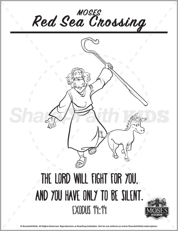 Exodus 12 The Red Sea Crossing Preschool Coloring Pages