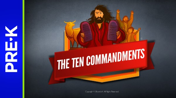 Exodus 20 The Ten Commandments Preschool Bible Video