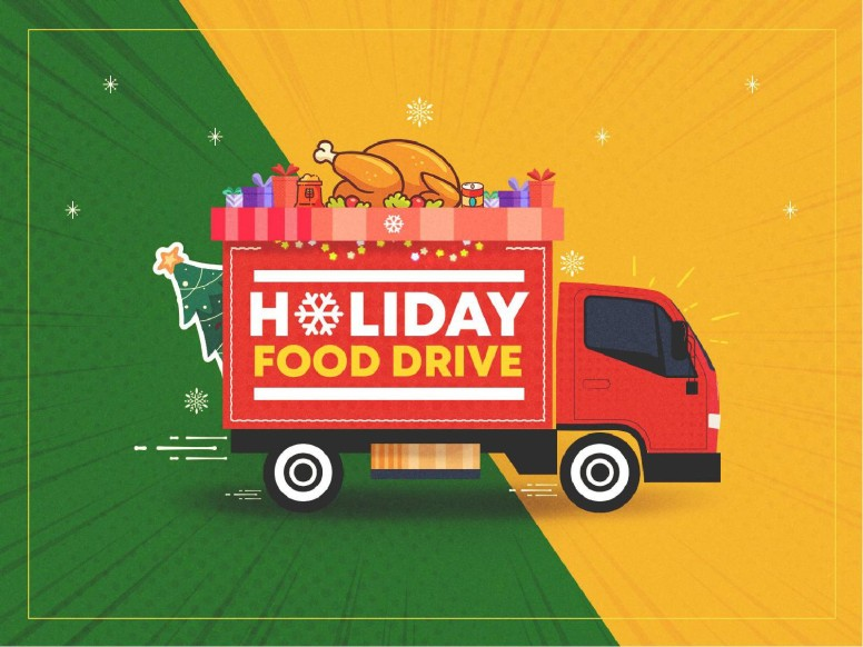 Holiday Food Drive Truck Church PowerPoint