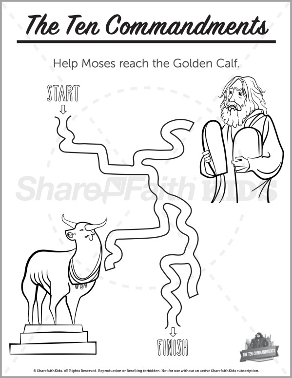 Exodus 20 The Ten Commandments Preschool Mazes