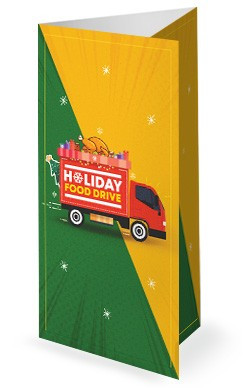 Holiday Food Drive Truck Trifold Bulletin