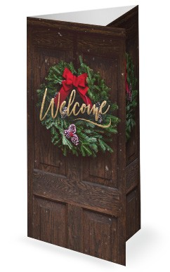 Home For Christmas Church Trifold Bulletin