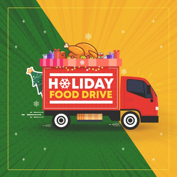 Holiday Food Drive Truck Social Media Graphic