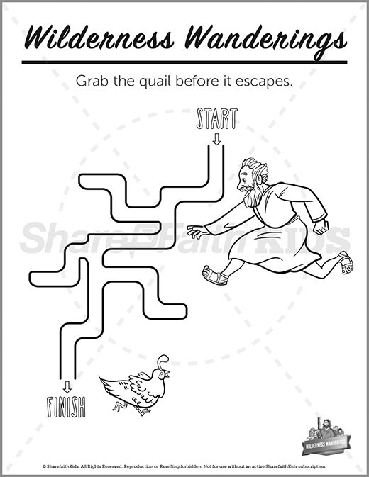 Exodus Wilderness Wanderings Preschool Mazes