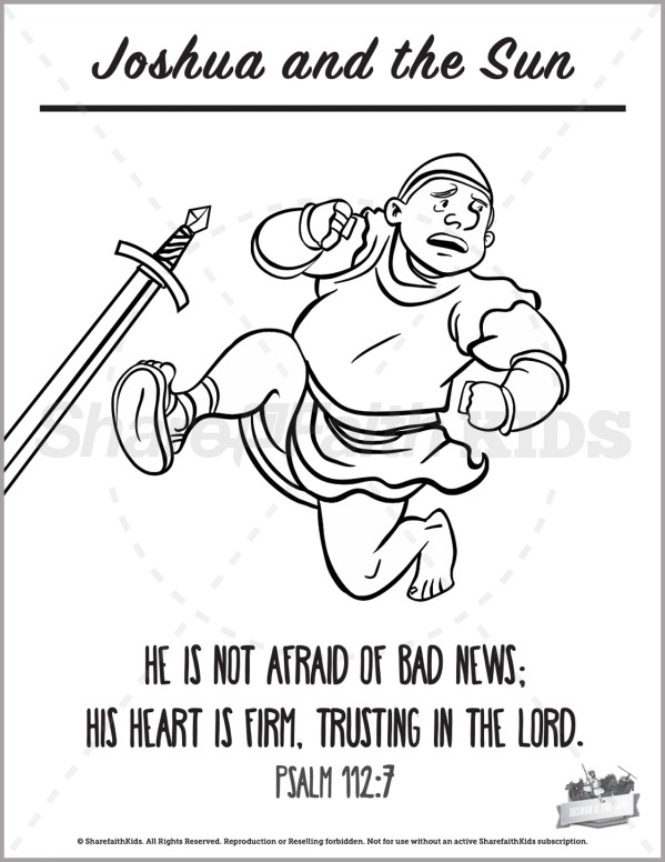 Joshua 10 Joshua and the Sun Preschool Coloring Pages
