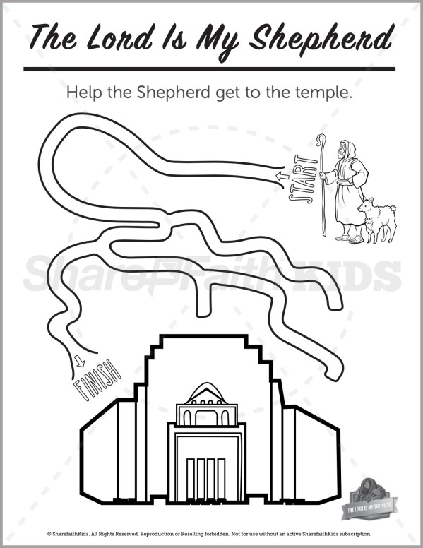 Psalm 23 The Lord is My Shepherd Preschool Mazes