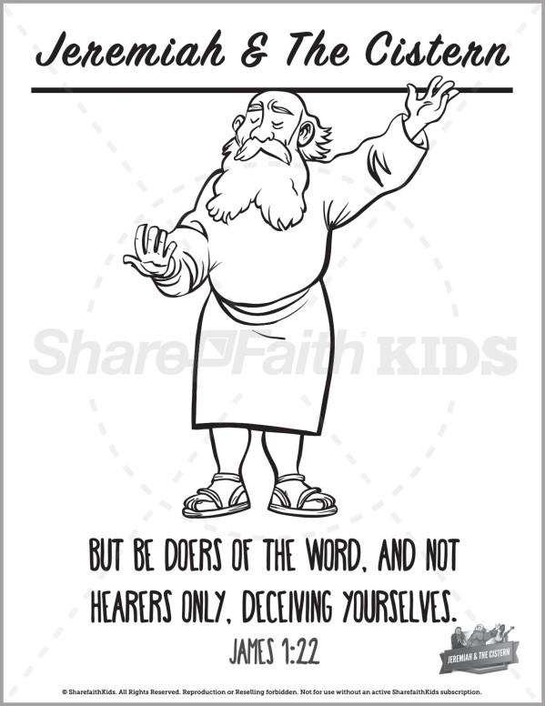 Jeremiah 38 The Prophet Jeremiah Preschool Coloring Pages