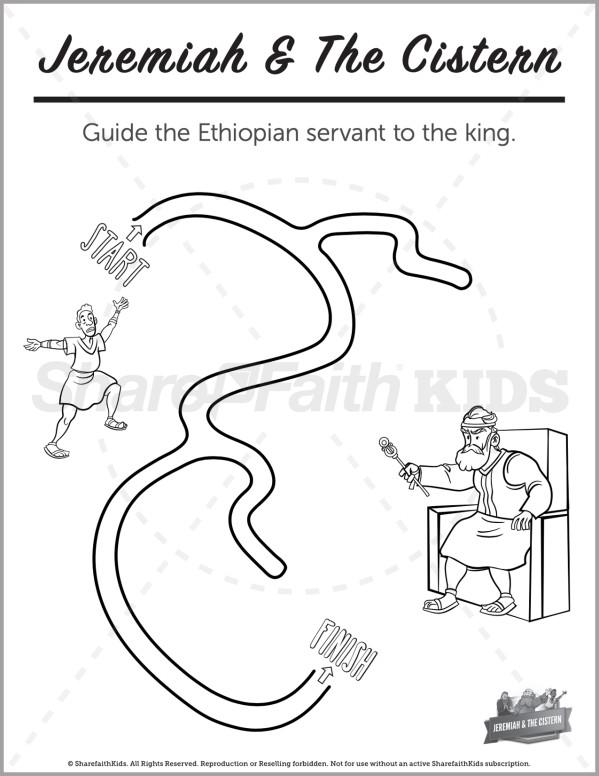 Jeremiah 38 The Prophet Jeremiah Preschool Mazes