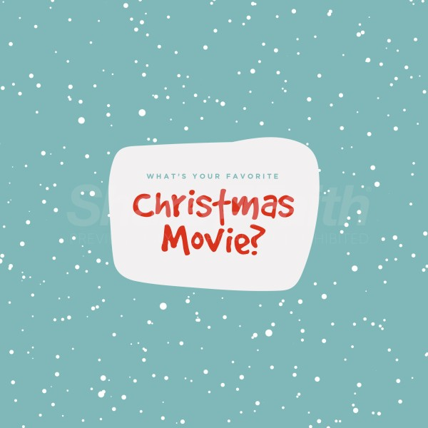 Christmas Movie Teal Social Media Graphic